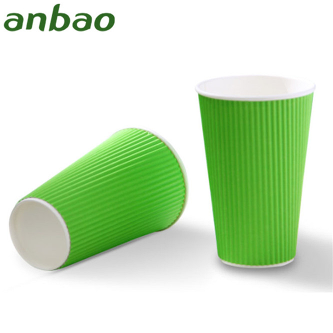 graceful design holder with handle ripple wall paper cup