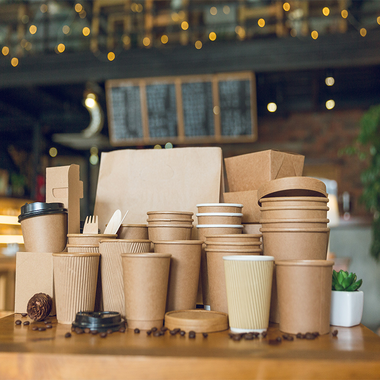8oz 6oz Food Grade Brown Kraft Double Wall Paper Cup For Soup