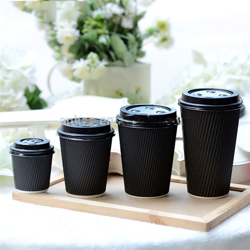 disposable custom logo ripple wall paper cups with lids price in kerala