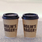 Factory Directly Eco Friendly Food Safe Disposable Corrugated Sleeve Coffee Coffee Cups Wall Kraft Ripple Paper Cup