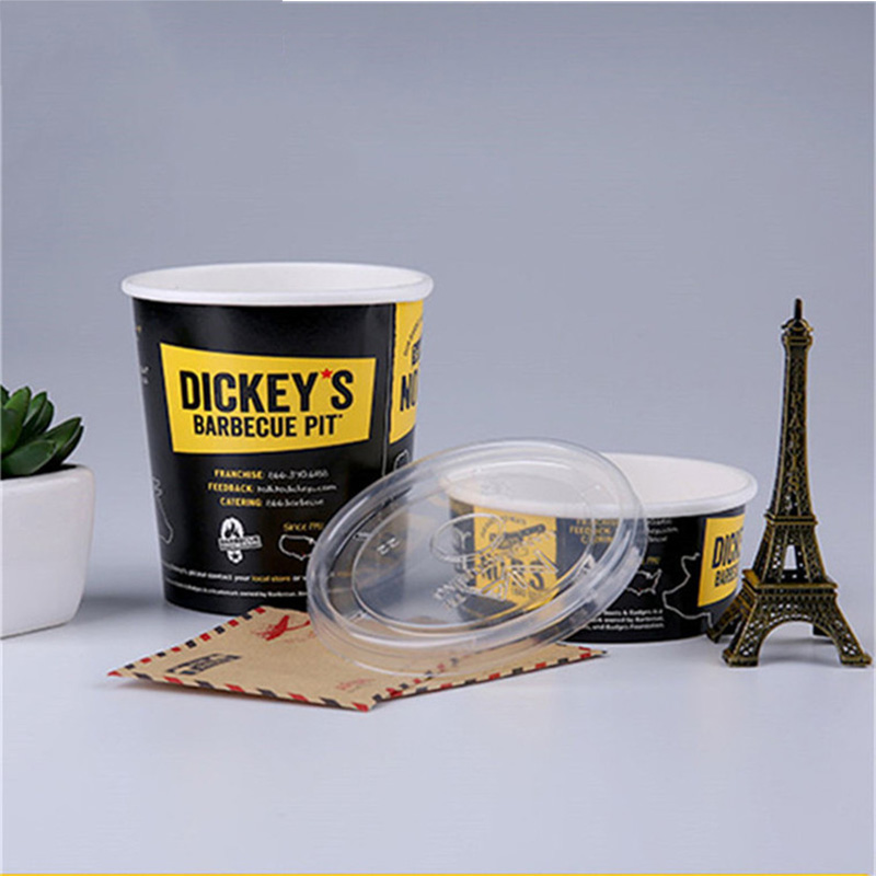 Custom printed disposable cups paper bowl and lids