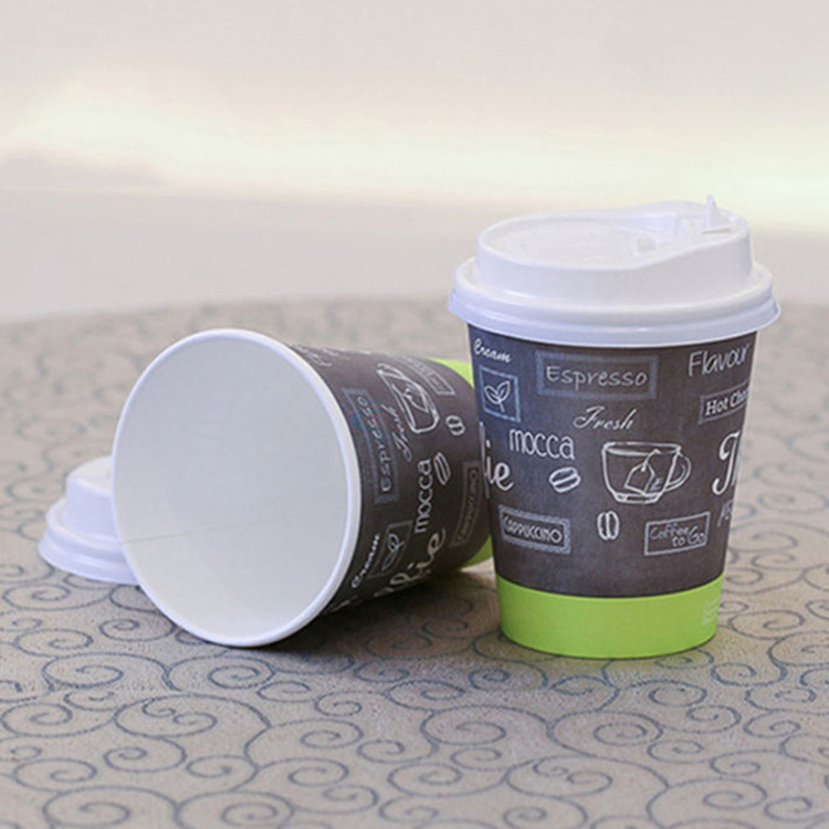 Hot Sale Single Wall Paper Cup for Coffee Tea Hot Drinks Custom Disposable Cups