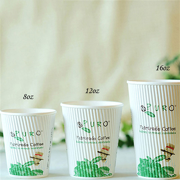 paper cup ripple wall coffee cups triple wall hot coffee paper cup