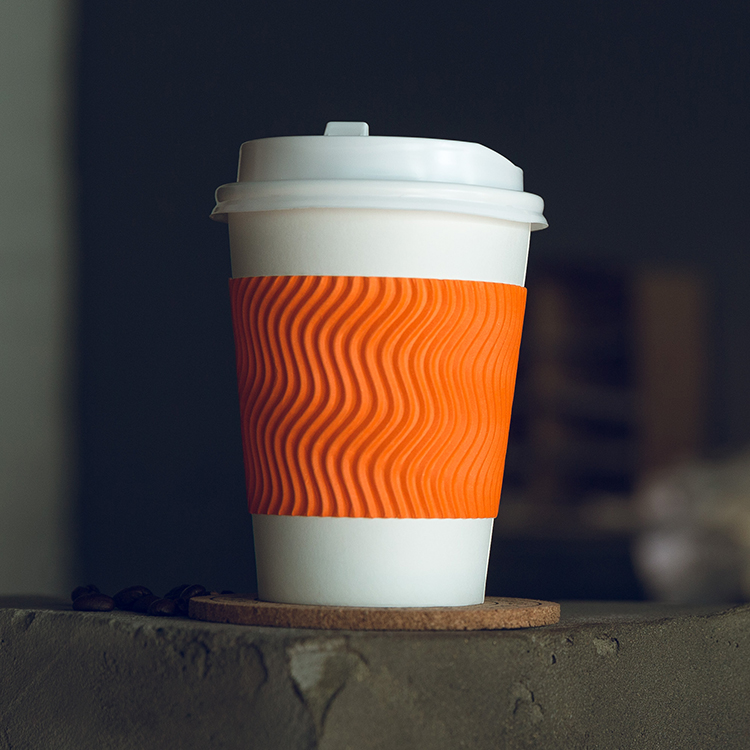 Customized Printed Biodegradable Ripple Coffee Paper Cup