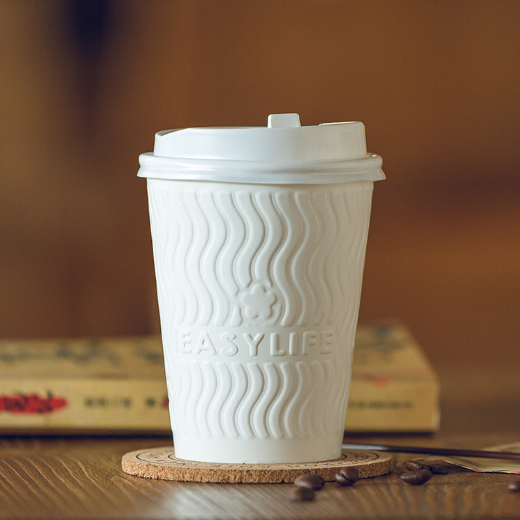 12oz Coated Logo Printed Hot Coffee Ripple Kraft Paper Cup