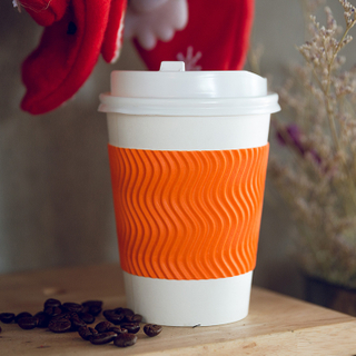 Biodegradable Customized Disposable New Style Ripple Hot Cup