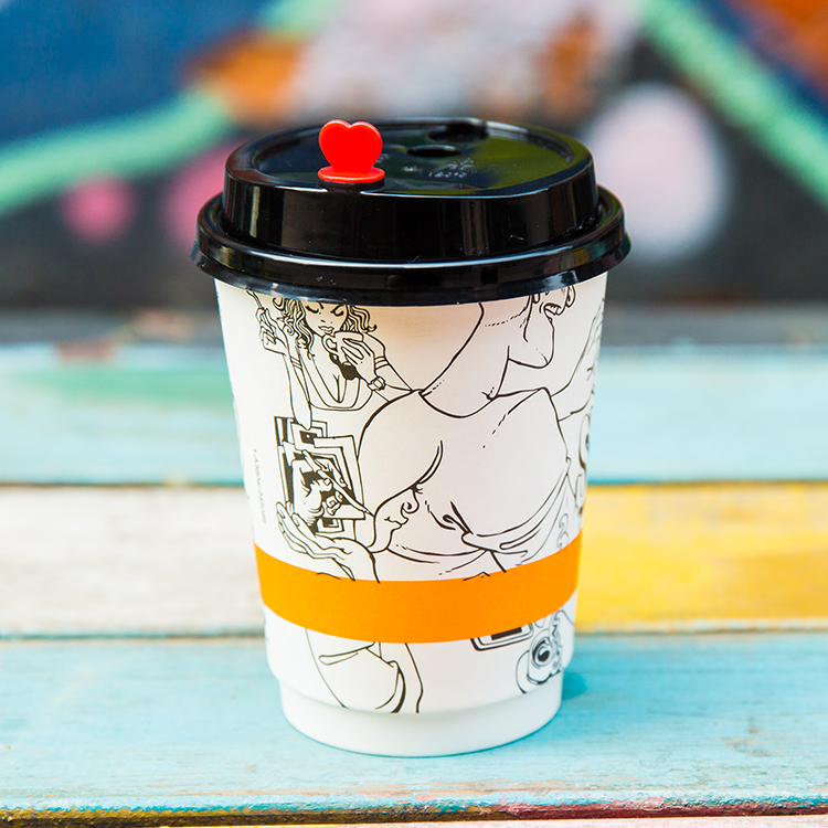 Small Disposable Paper Coffee Cups With Lids And Sleeve ...