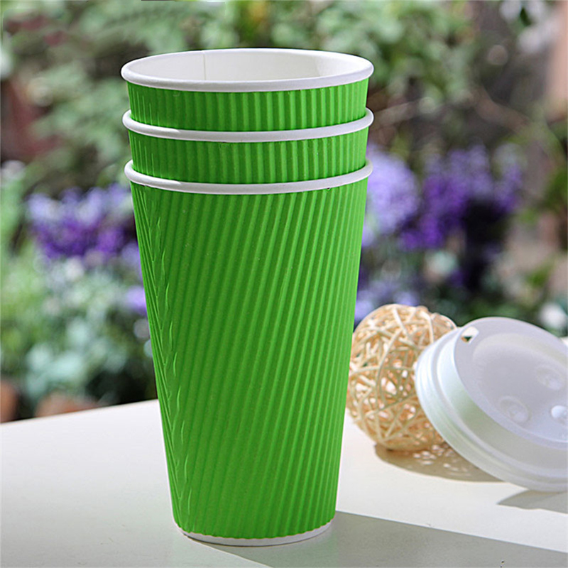 Disposable Ripple Wall Paper Coffee ECO Cup