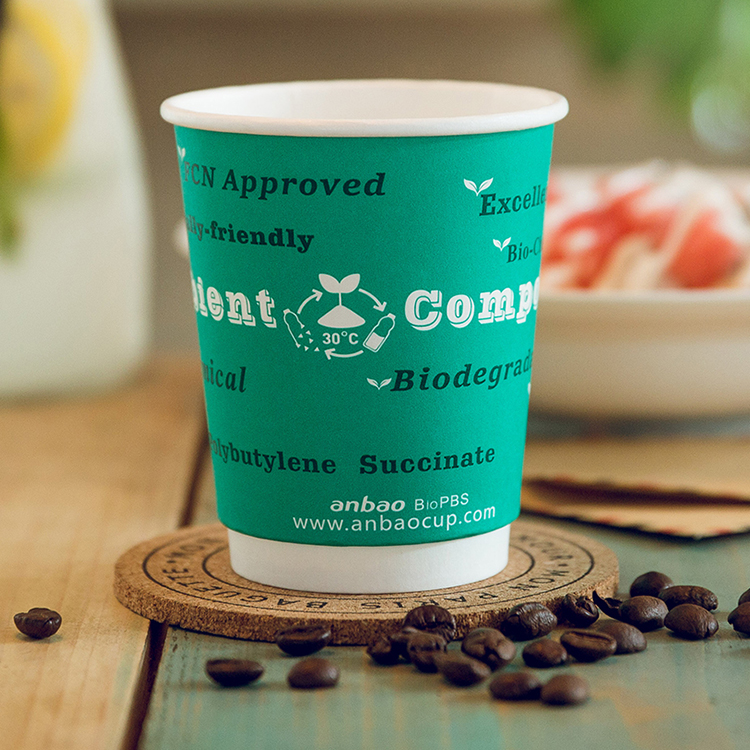 Custom Logo Disposable PE Coated Recycled Coffee Hot Bulk Paper Cup