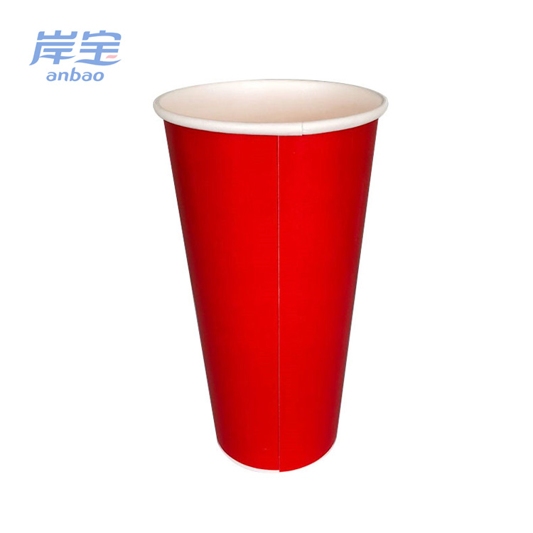 Disposable Wax Coated 16oz 20oz 22oz Cheap Cold Paper Cup