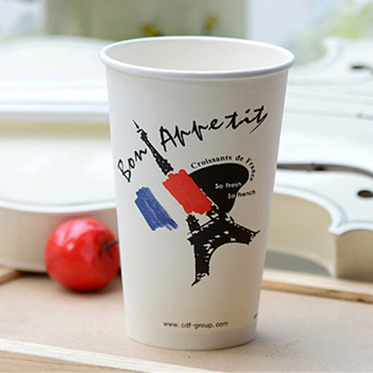 Top Quality Disposable Single Wall Pe Coated 500ml 16oz Paper Cup