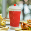 Disposable 8oz 12oz 16oz Ripple Paper Coffee Cups