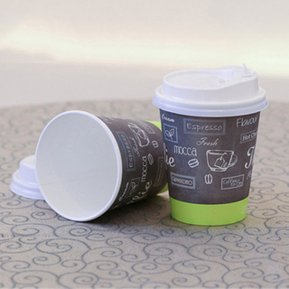 Thick Printed Single Wall Paper Coffee Cup