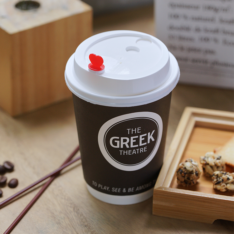 9 oz PE PLA Coated Disposable Paper Cups Personalised Takeaway Coffee Cups
