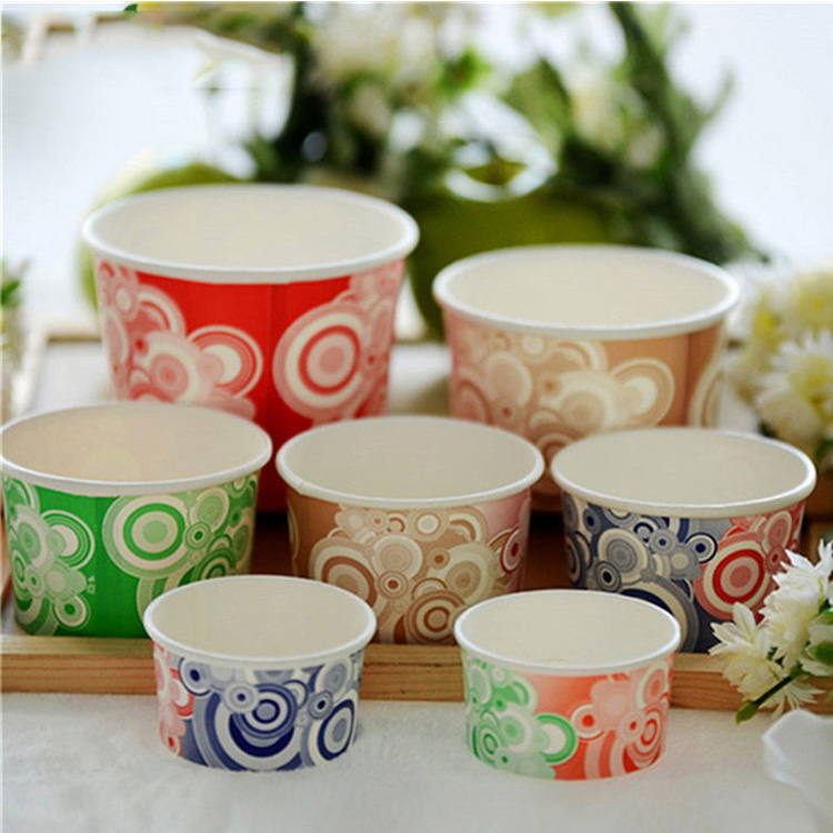 wholesale new disposable paper ice cream cups
