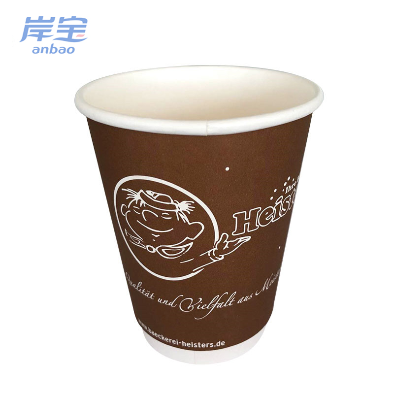 professional design double wall paper coffee cup printing