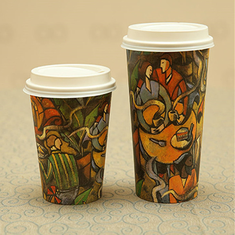 Wholesale Biodegradable PLA Disposable Coffee Paper Cup With Good Price