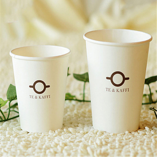 Custom Logo Printed Disposable Single Wall Paper Coffee Cup With Lids