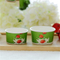 Disposable Biodegradable Single Wall Noodle Soup Ice Cream Paper Cup With Lids