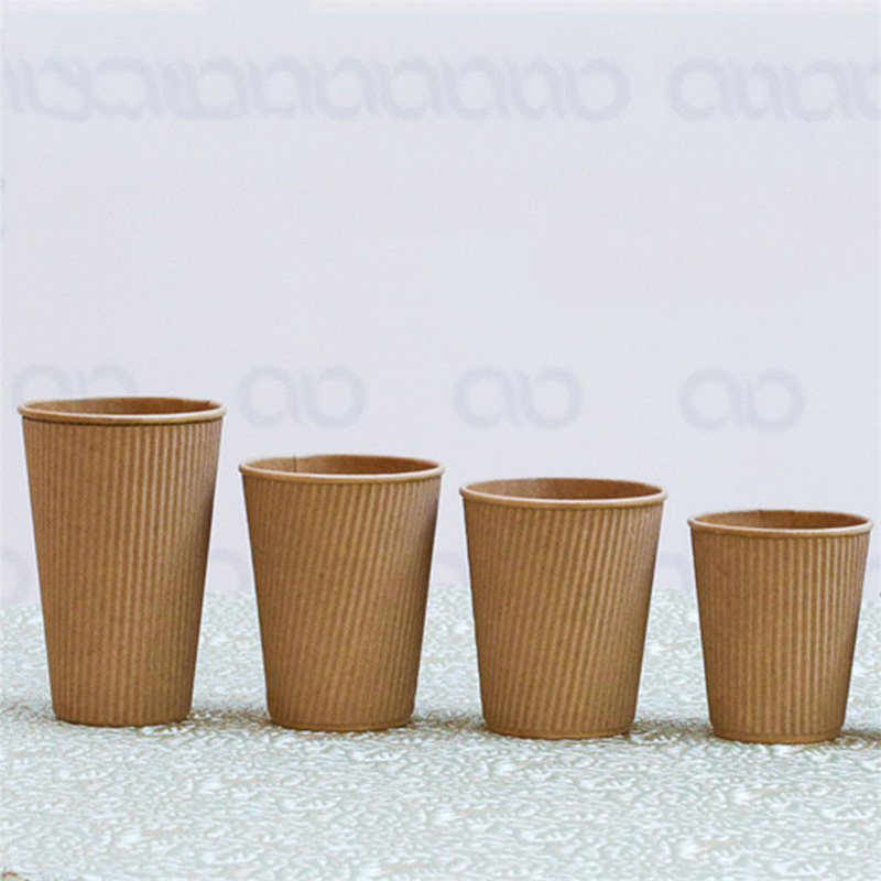 ripple wall disposable paper cup custom logo printed hot coffee cups 12 oz