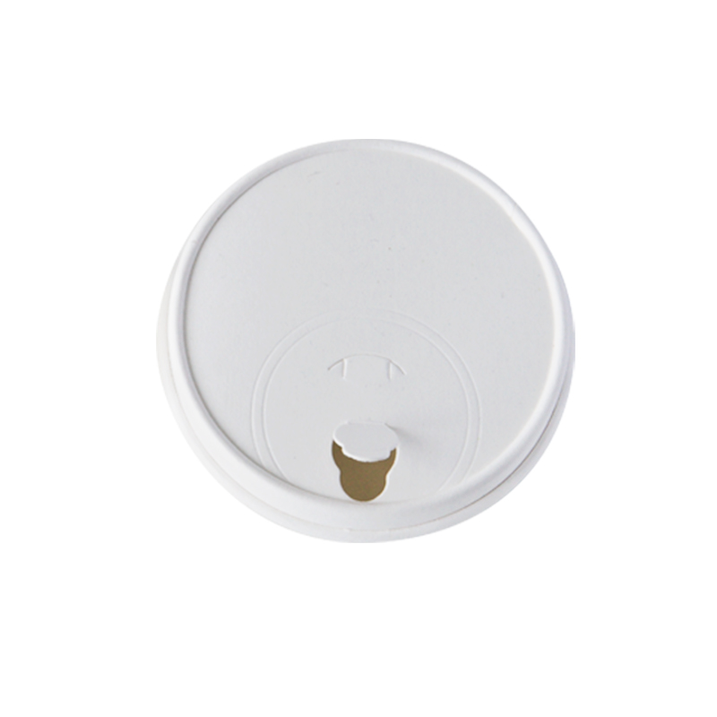 wholesale disposable biodegradable paper lids for hot and cold cup