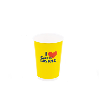 Customized Paper Cups With Cover 12 oz
