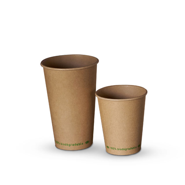 Customized Printing Logo Insulated Biodegradable Disposable Single Wall Coffee Juice Tea Paper Cups