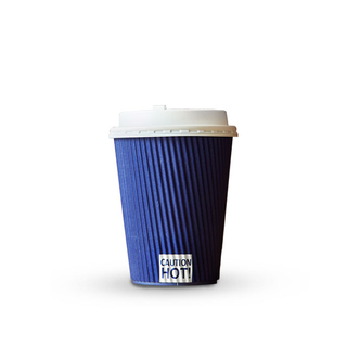Disposable Biodegradable Decorative Ripple Paper Takeaway Coffee Cups